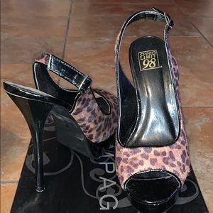 Suede Leopard Pumps